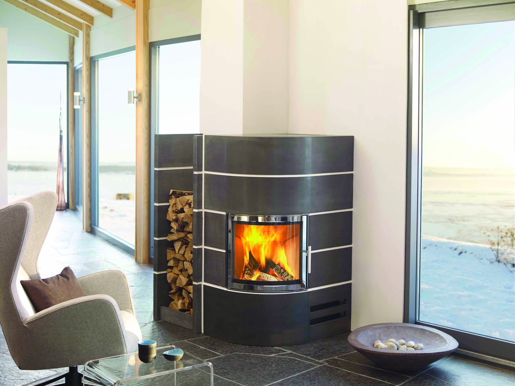 amsterdam angle vente foyer insert chemin e bois. Black Bedroom Furniture Sets. Home Design Ideas