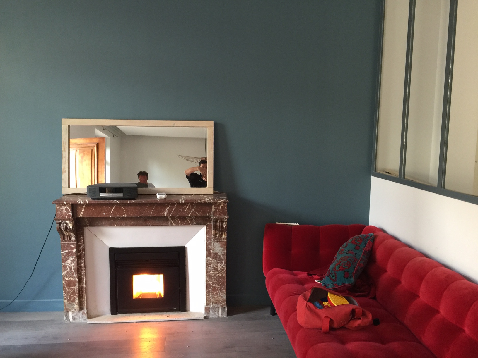 pose d 39 un insert granul s boxtherm 60 toulon. Black Bedroom Furniture Sets. Home Design Ideas