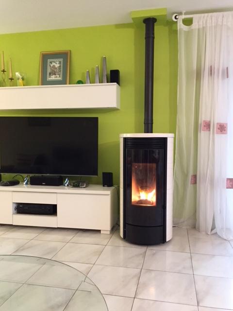 pose d 39 un po le granules drum de la marque cmg bouc bel air. Black Bedroom Furniture Sets. Home Design Ideas